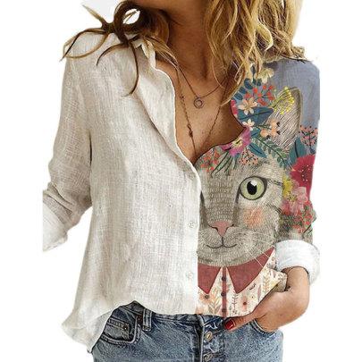 Summer New Printed Long-sleeved Shirt Shirt NSJIM58962