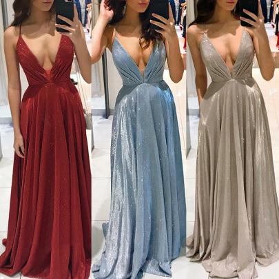 Sling Halter Slim Long Skirt Dress NSYAY58946