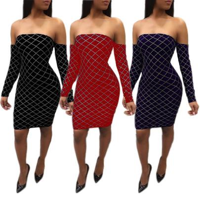 Spot Fashion Sexy Strapless Wrapped Chest Skirt NSSJW58902