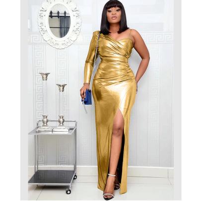 Hot Style Sexy Fashion One-shoulder Irregular Dress NSOJS59011