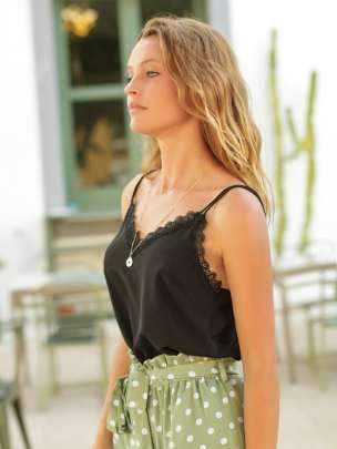 Fashion Lace Trim Sling NSCAI59167