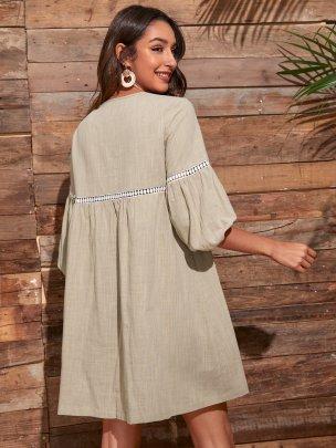 Fashion Solid Color Plain Color Dresses NSCAI59160