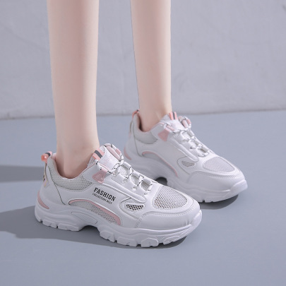 Summer New Fashion All-match Student Breathable Thick-soled Casual Sports Shoes NSZSC59478