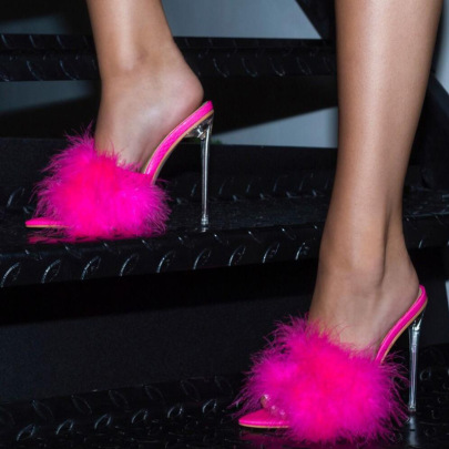 Feather Crystal High-heel Pointed Sandals NSSO59520