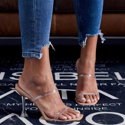 Wine Glasses High-heeled Sandals NSSO59521