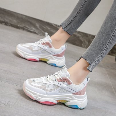 Spring New Casual Fashion Sports White Shoes NSZSC59554
