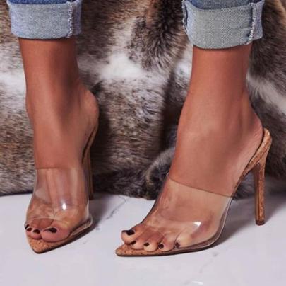 Transparencies Pointed Stilettos Sandals NSSO59579