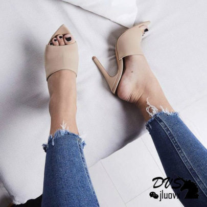 Fashion Open Pointed Toe Heeled Sandals NSSO59600