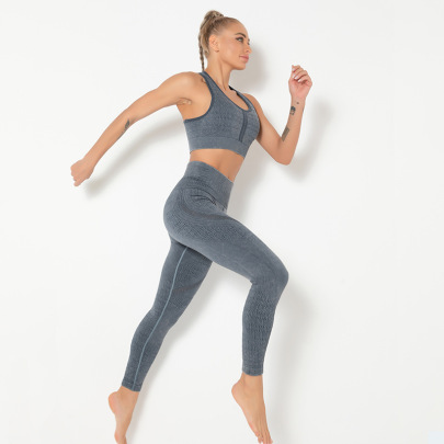 Seamless Yoga Printed Sports Beauty Backs Set NSLUT59735