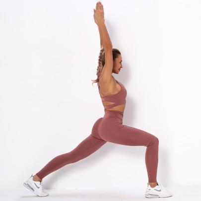 New Ribbed Hip-lifting Tight-fitting Beautiful Back Set NSLUT59739