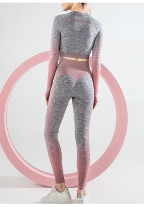 New Style Yoga High Stretch Striped Seamless Set NSLUT59709