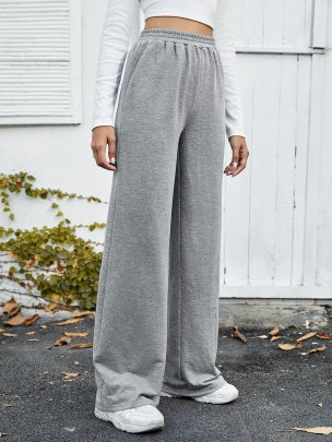 New Sport Grey Long Pure Color Fashion Comfortable  Trousers NSCAI59688