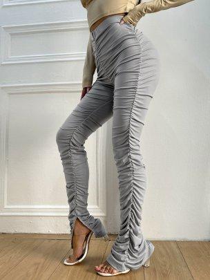 New Fashion Long High Waist  Trousers NSCAI59686