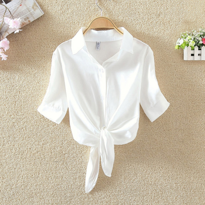 Spring And Summer New Fashion Loose College Style Striped All-match Shirt NSXMI59827