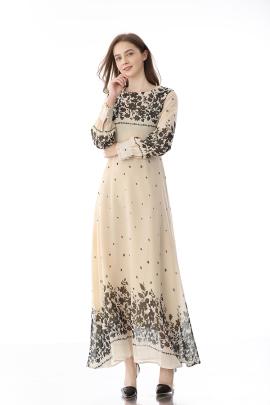 Spring And Autumn New Retro Inner Wear Long Skirt  NSLIB59813
