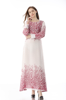 Retro Floral Spring And Autumn New Style Big Swing Dress NSLIB59812