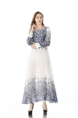 Spring And Autumn New Long-sleeved Dress NSLIB59811