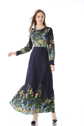 Spring And Autumn New Style Long-sleeved Long Skirt NSLIB59805