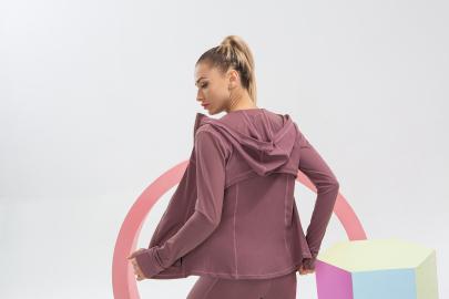 Long-sleeved Zipper Slimming Tight Sports Jacket NSLUT59792
