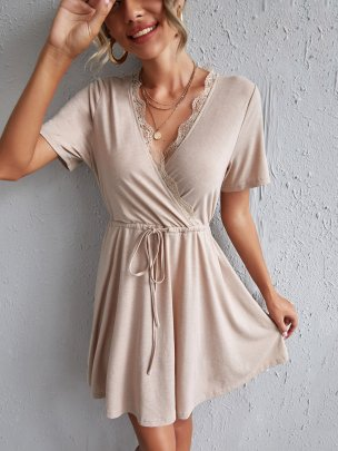 New Pure Color Fashion Comfortable Dresses NSCAI59782