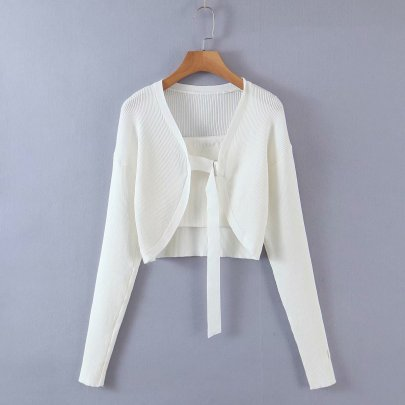 Wholesale New Two-piece Knitted Cardigan NSAM55340