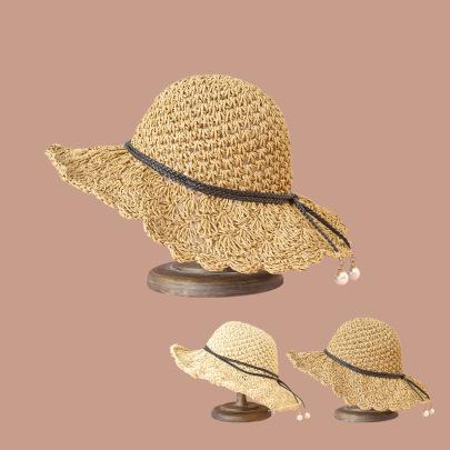 Fashion Pearl Lace Straw Hat NSTQ55460