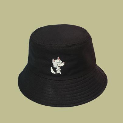 Fashion Cartoon Wolf Print Bucket Hat NSTQ55471
