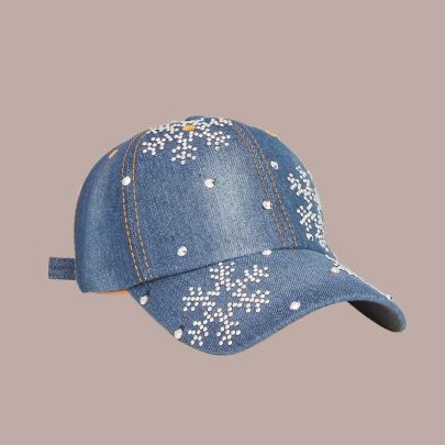 Snowflake Sticker Diamond Baseball Cap NSTQ55479