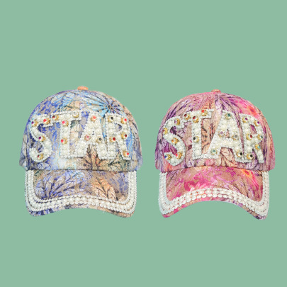 Pearl Floral Cloth Baseball Cap NSTQ55490