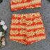 printed sexy sling split swimsuit three-piece  NSLUT55612