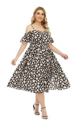 Summer New Style Sling Sexy Strapless Waist Dress NSLIB55599