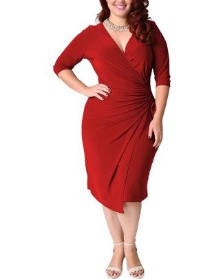 Sexy And Elegant Hot Selling Plus Size Waist Dress NSLIB55598