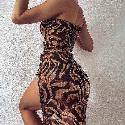 Summer New Sexy High Slit Slim Dress NSJIM55566