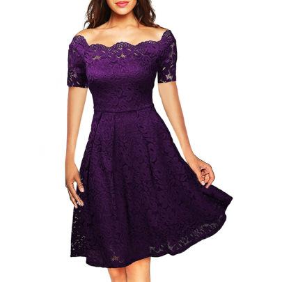 Autumn High-end Pure Color Dress NSMF59950