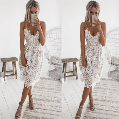 Fashion Sling Lace Halter Dress NSJRM60061