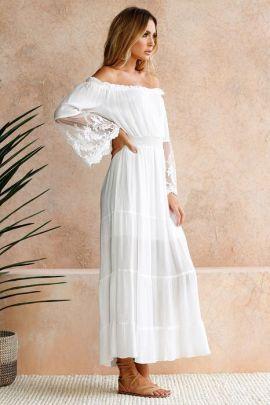 Flat Collar Lace Stitching Dress NSJRM60068