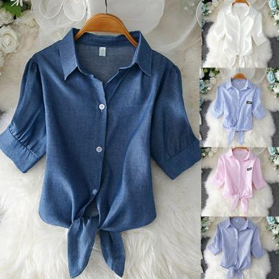 Summer New Puff Sleeve Shirt NSXMI60101