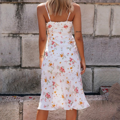 Fashion Sling Sweet Lace Floral Halter Dress NSHHF62066