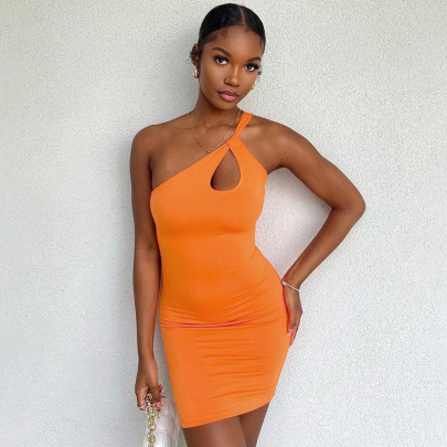 New Style Halter Hollow Sexy Slim Short Skirt Dress NSFLY62090