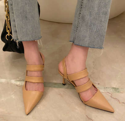 New Pointed High Heel Hollow Elastic Sandals NSSO62180