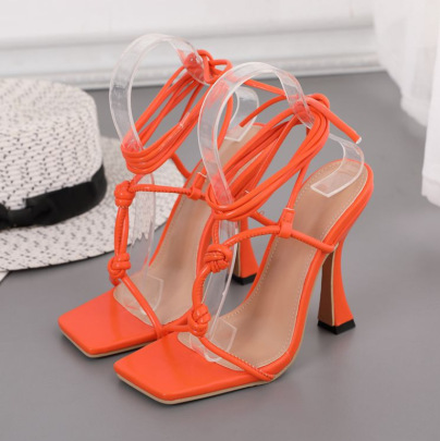 New Style Square Toe Straps High-heeled Sandals NSSO62187