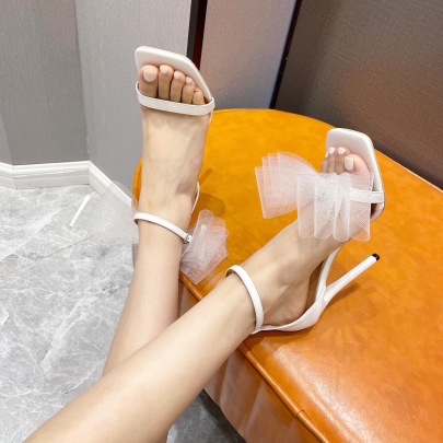 New Bow Square Toe Sandals NSSO62197