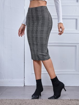 New Grey Comfortable Fashion Skirts NSCAI62458