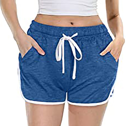 Summer New Casual Solid Color Tether Shorts NSSUO62428