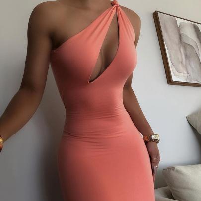 Summer New Fashion Oblique Shoulder Skirt NSAG62283