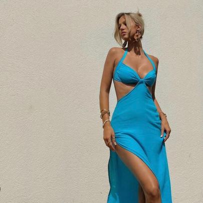 Summer New Sexy Split Temperament Long Skirt NSAG62288