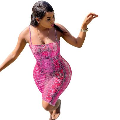 Sexy Serpentine Sling Dress NSFZ62377