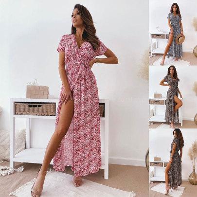 New Fashion Printed Waist Dress NSJC62505