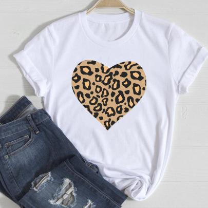 Lip Leopard Love Fashion Spring And Summer Tops NSAIT62498