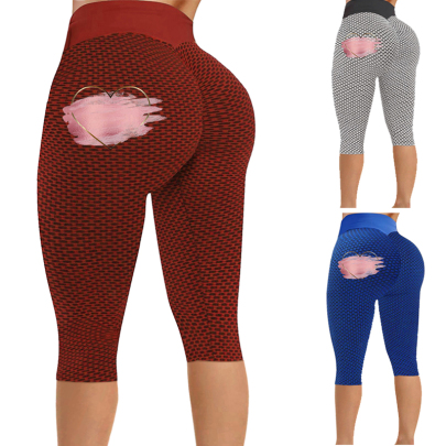 New Fashion Tight-fitting Hips Printed Slimming Casual Cropped Pants NSJIN62651